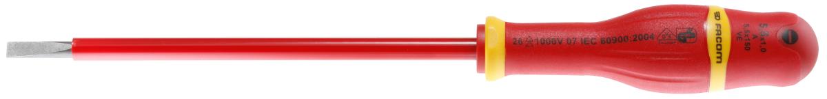 Facom - A4X100VE - Tournevis protwist pour vis à fente 4x100 1000 Volts Facom A4