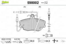 ARRIÈRE DELPHI Plaquettes de frein complet jeu pour Essieu complet RENAULT SUPER 5 1.4 Turbo GT 1.7 1.7i