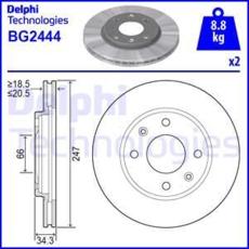 Delphi Tambour pour Peugeot 106 II 1 Hayon 1.0 1.1 1.4 1.5 1.6